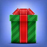 Gift box. With bow and ribbon. Vector illustration Stock Photography