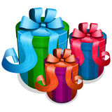 Gift box with bow Royalty Free Stock Photography