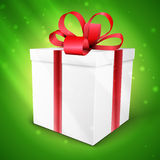 Gift box with bow Stock Image