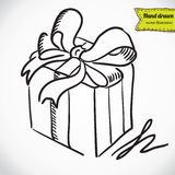 Gift box with  bow vector illustration Royalty Free Stock Image