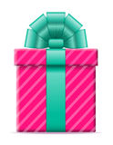 Gift box with a bow vector illustration Royalty Free Stock Photo
