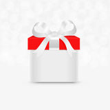 Gift box. With a bow  on the white Royalty Free Stock Image
