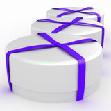 Gift box with a bow on white background Royalty Free Stock Photography