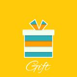 Gift box with a bow Royalty Free Stock Images