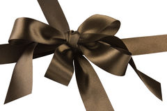 Gift Box and Brown Bow Royalty Free Stock Photo
