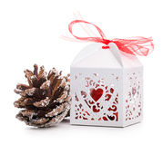 Gift box bump toy Royalty Free Stock Images