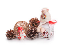 Gift box bump toy Stock Images