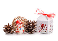 Gift box bump toy Royalty Free Stock Photography