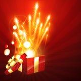 Gift box bursting Stock Photography