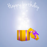 Gift box bursting with glitters Royalty Free Stock Images