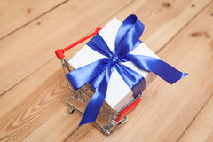 Gift box and caddy Stock Images