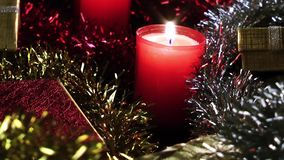 Gift Box  and Candles stock video footage