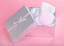 Gift Box and Card Stock Image