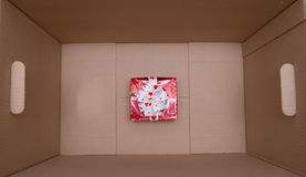 Gift box in cardboard box Royalty Free Stock Photography