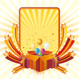 Gift box and celebration Royalty Free Stock Images