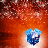 Gift box celebration background Stock Photography