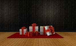 Gift box for celebration and festival-3D rendering Stock Photography