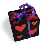 Gift box celebration wrapping anniversary love Royalty Free Stock Images