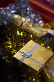 Gift Box and Champagne.  Royalty Free Stock Images