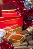 Gift Box and Champagne.  Stock Images
