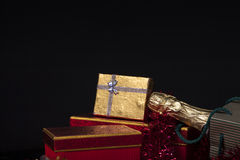 Gift Box and Champagne.  Stock Image