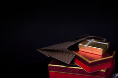 Gift Box and Champagne.  Royalty Free Stock Image