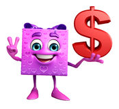 Gift Box Character with dollar sign Stock Image