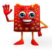 Gift Box Character with hello pose Royalty Free Stock Photo