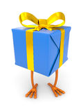 Gift box with chicken leg Royalty Free Stock Photos