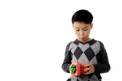 Gift box in child hand. Stock Photography