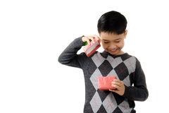 Gift box in child hand. Stock Images