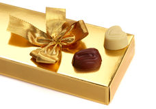 Gift box with chocolate Royalty Free Stock Photos