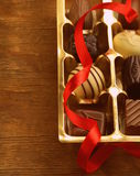 Gift box of chocolate candies Stock Photography
