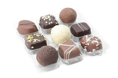 Gift box of chocolate candy Royalty Free Stock Images