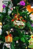Gift box and chrismas tree Royalty Free Stock Photography