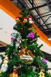 Gift box and chrismas tree Royalty Free Stock Photos