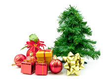 Gift box and christmas ball Royalty Free Stock Photo