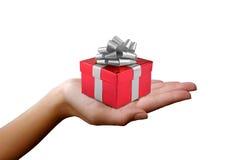 Gift box for a Christmas or Birthday present Stock Photos