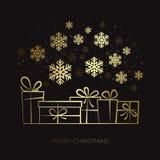 Gift box Christmas card Stock Photo