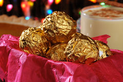 Gift box of Christmas Chocolates Royalty Free Stock Photos
