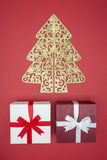 Gift box for Christmas day sale and shopping boxing day Royalty Free Stock Image