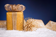 Gift box and Christmas decoration Royalty Free Stock Photography
