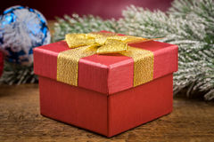 Gift box with christmas elements Stock Photo