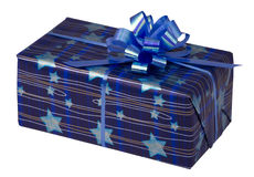 Gift box at Christmas or New Year Stock Images
