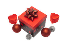Gift box with christmas ornament Stock Image