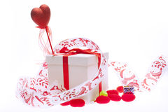 Gift box with christmas ornament Stock Photo