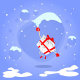 Gift Box Christmas Present Cartoon Character  Royalty Free Stock Photo