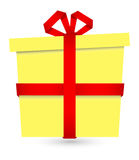 Gift Box - Christmas Vector Illustration Royalty Free Stock Image