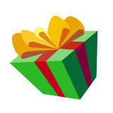 Gift box with clipping path. Computer generated illustration of a gift box royalty free illustration