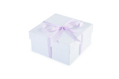 Gift box with clipping path. Royalty Free Stock Image